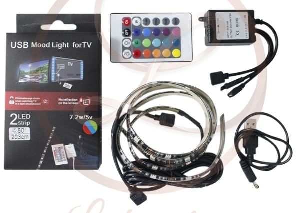 USB LED szalad tv mögé