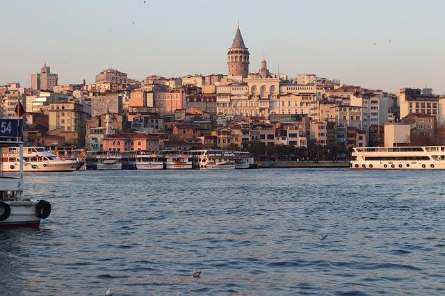 Gyönyörű panoráma Isztambulban